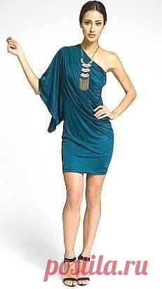 Платье на одно плечо / Простые выкройки / Модный сайт о стильной переделке одежды и интерьера