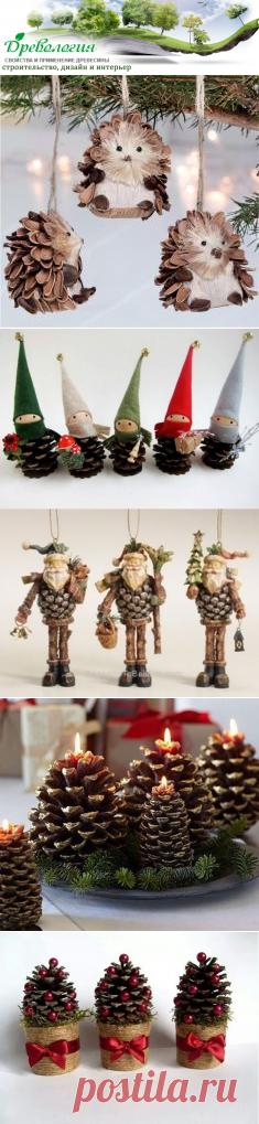 Идеи новогодних украшений из природных материалов -