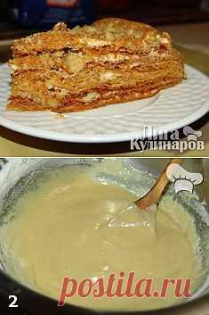 Медовик — рецепт пошаговый от Лиги Кулинаров