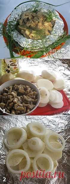 Картофель с грибами по-огородничьи — рецепт пошаговый от Лиги Кулинаров