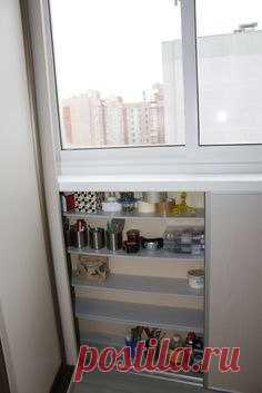 Идея для хранения на балконе