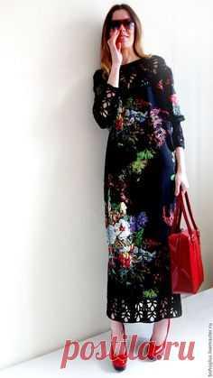 Купить или заказать Платье в стиле бохо шик  Серафима ночная  в интернет- магазине 7a7894d8daa