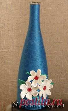Ваза из бутылки (декор, мастер-класс).