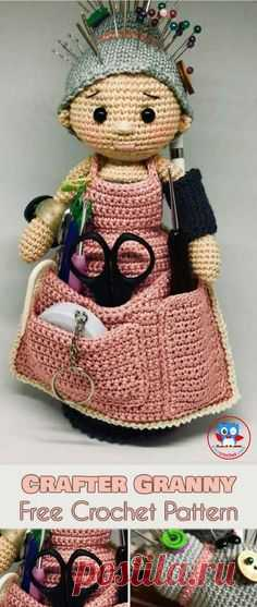 Crafter Granny Free Crochet Pattern The Amigurami Granny Doll Is