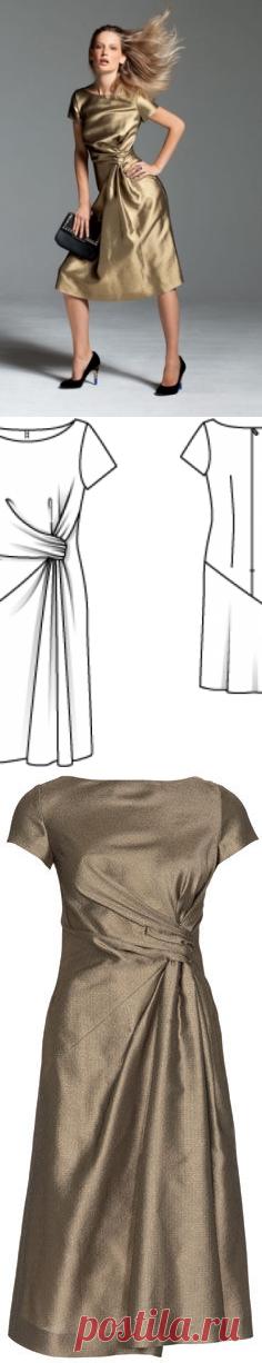 Dress - a pattern No. 112 of the magazine 12\/2012 Burda – a pattern of dresses on Burdastyle.ru