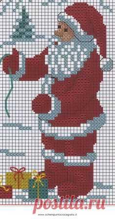Natale_babbo_70 free cross stitch pattern to print