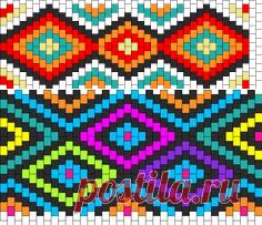 Aztec Design Kandi Pattern | taki | Aztec designs, Kandi and Aztec