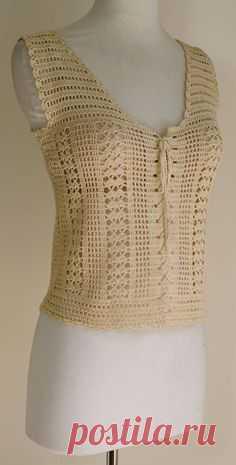 """Que les parece si hacemos ésta blusa? MATERIALES 400 grs de hilo semi-fino Agujas crochet N° 3.5 PUNTO EMPLEADO Varetas……….var. Cadenas……..cad. Medio punto……… mp Punto fantasía Como siempre sacamos la medida de B y comenzamos a hacer la espalda. GRÁFICA PARA TOMAR MEDIDAS ESPALDA Tejemos """"var, cad"""" var VER GRÁFICO HILERA 2 …"""