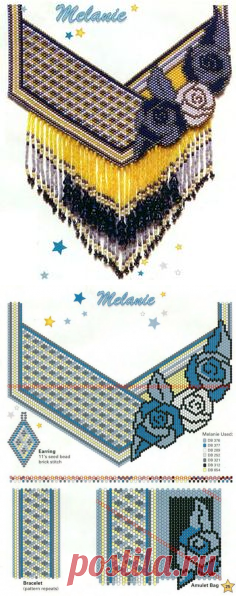 Esquema chaquira | Perlas y chaquira | Beads, Brick stitch and Bead patterns