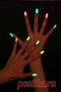Светящиеся ноготки