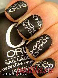 """""""Цепи"""" на ногтях"""