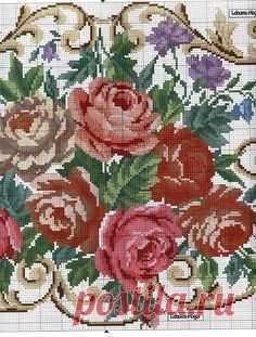 Las rosas para el mantel.
