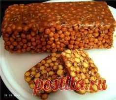 Десерт из кукурузных палочек со сгущёнкой. | Шедевры кулинарии