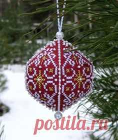 Новогодняя рождественская вышивка крестиком