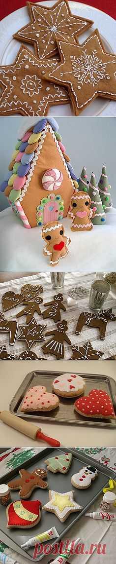 вкусняшки из фетра - игрушки и праздничное украшение