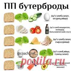 Сегодня вкусные бутерброды! . Подходят для завтрака или перекуса😋 . Очень быстрый и вкусный получается приём пищи,в котором можно сочетать…