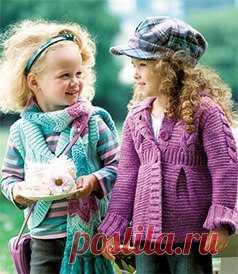 Чудесный весенний кардиган для девочки спицами - Жакеты.Пуловеры.Свитера