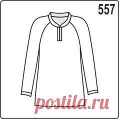 Выкройка блузки с рукавами реглан и контрастными обтачками - Porrivan Скачать бесплатную выкройку женской блузки для размеров 44, 46, 48, 50. Построение выкройки сделано специально для трикотажа. Блузка с удобными рукавами реглан и обтачками.