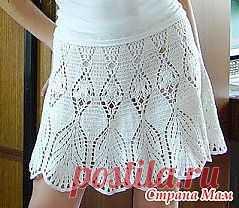 Белая юбка крючком Victoria's Secret.