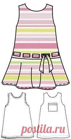 Выкройки детских платьев - Бесплатные выкройки для шитья одежды. Porrivan