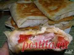 Горячие бутерброды из лаваша - пошаговый рецепт с фото. Как приготовить.