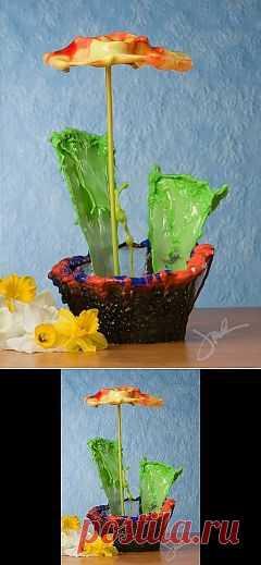 (+1) тема - Жидкие цветы. | ВИДЕОСМАК