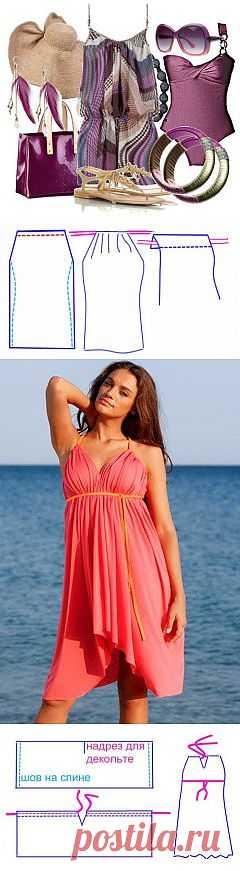 Пляжные платья своими руками.