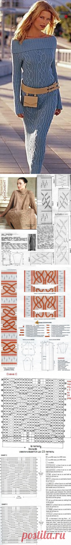 Dress Celtic patterns of the scheme. Celtic patterns knitting by scheme spokes |