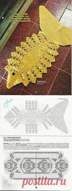 Tita Carré - Agulha e tricot by Tita Carré: Tapete Peixe em crochet com receita