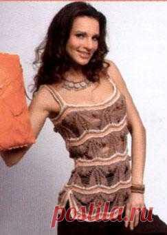 Вязанная блуза -топ | Вязание спицами и крючком