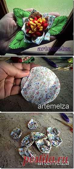 ARTEMELZA - Arte e Artesanato: Fuxico–flor em pano e feltro.