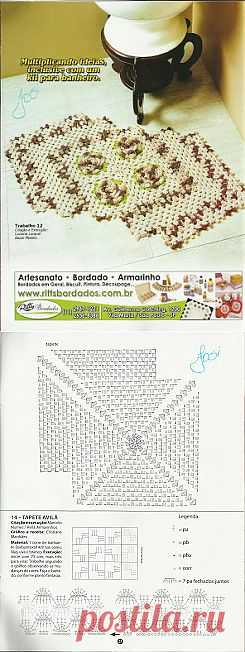 Tita Carré - Agulha e tricot by Tita Carré: Tapete em Square de Crochet