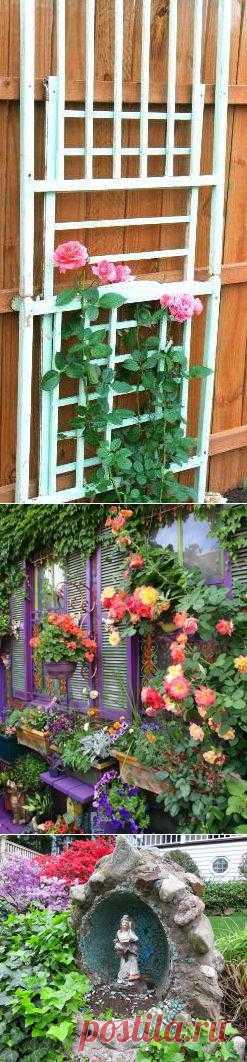 Используем подручные материалы для декора сада