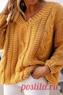 Ribbed Knitted Long Sleeves Pullover Sweater – immorgo