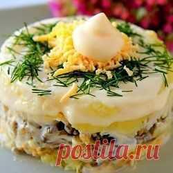 Рецепт этого салата будут выпрашивать все гости. Очень вкусный » Рецептин.ru - лучшие рецепты для приготовления!