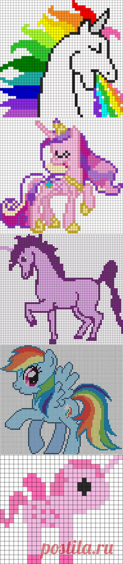 Dibujos Con Cuadros.Los Dibujos Los Unicornios Por Los Cuadros En El Cuaderno 28
