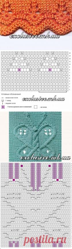 Детские узоры спицами | Салон эксклюзивного вязания