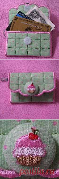 Embroidery Credit Cash keeper from A Design By Lyn