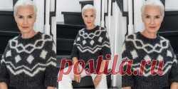 Пуловеры, свитера, джемпера спицами и крючком, модели со схемами - Вяжи.ру - модели 22