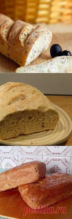 Рецепт: Хлеб с овсяными хлопьями и льняными семечками. - все рецепты России