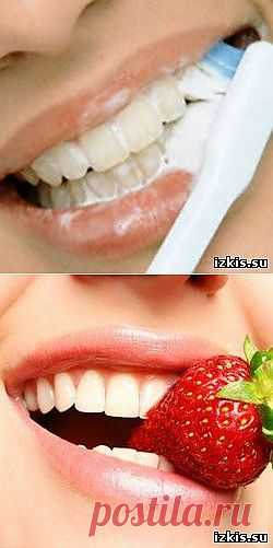 Самые простые способы домашнего отбеливания зубов.
