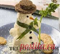 Новогодняя закуска Снеговик