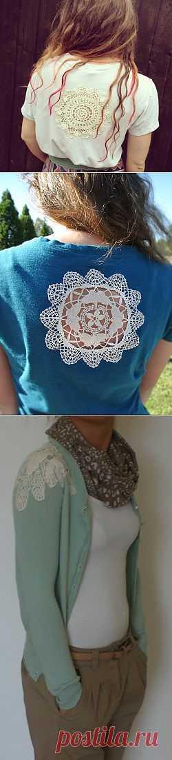 Декор одежды вязаными салфетками / Декор / Модный сайт о стильной переделке одежды и интерьера