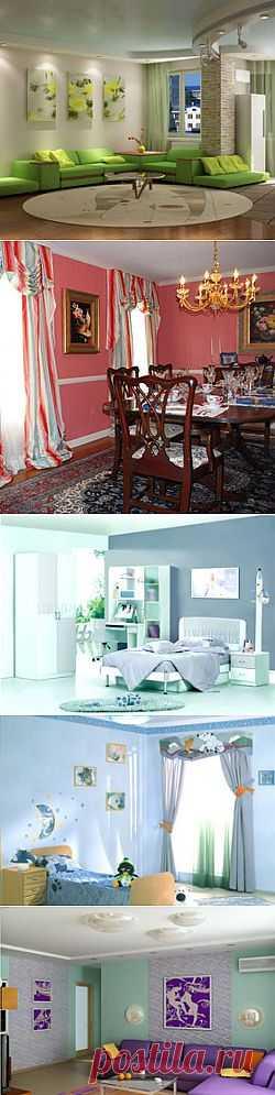 Цвет в интерьере квартиры - основа уюта и благополучия
