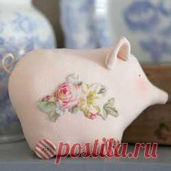 Тильда свинка - выкройка и мастер класс