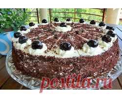 Шварцвальдский торт с вишнями . Милая Я