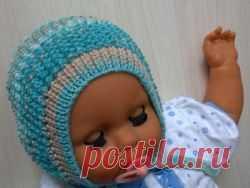 вязание чепчика для новорожденного спицами схема и видео вязание