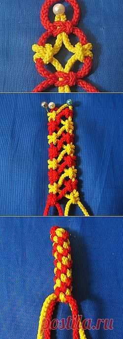 10 ажурных цепочек из 4-х нитей в технике макраме - Ярмарка Мастеров - ручная работа, handmade