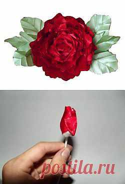 Домашняя волшебница - Мастер-класс МК Роза из ткани (автор iriska)
