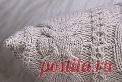 Вяжем интерьерную подушку спицами / Вязание спицами аксессуаров / PassionForum - мастер-классы по рукоделию